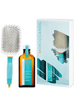 Moroccanoil Great Hair Day Set Light, 100 ml + Paddle Brush