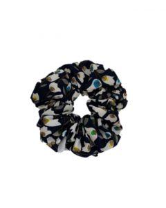 JA•NI hair Accessories - Hair Scrunchie, The Navy Flower