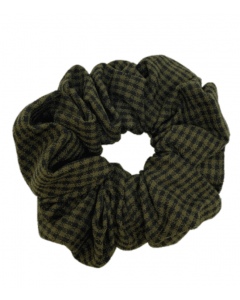 JA•NI Hair Accessories - Hair Scrunchies, The Army Thin Checkered