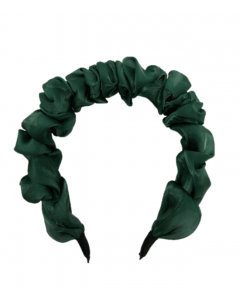 JA•NI hair Accessories - Headband, The Green Wavy Silk