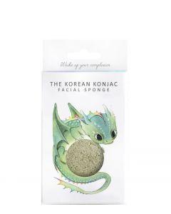 The Konjac Sponge Mythical Drage med grønt ler + hank